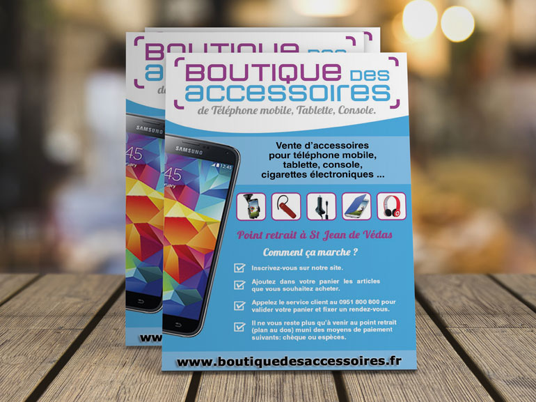 Flyer Boutique des accessoires ecommerce Montpellier 1