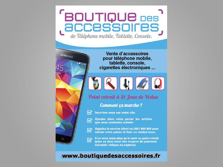 Flyer Boutique des accessoires ecommerce Montpellier 2