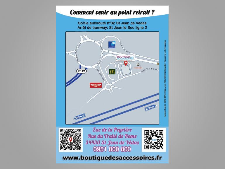 Flyer Boutique des accessoires ecommerce Montpellier 3
