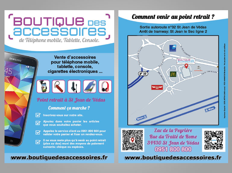 Flyer Boutique des accessoires ecommerce Montpellier 4