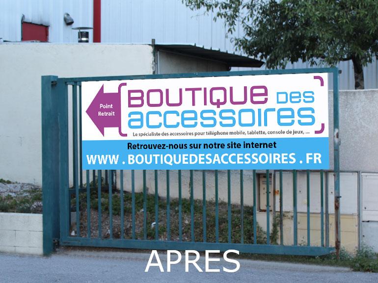 Signalétique boutique des accessoires ecommerce Montpellier 3