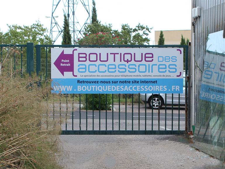 Signalétique boutique des accessoires ecommerce Montpellier 4