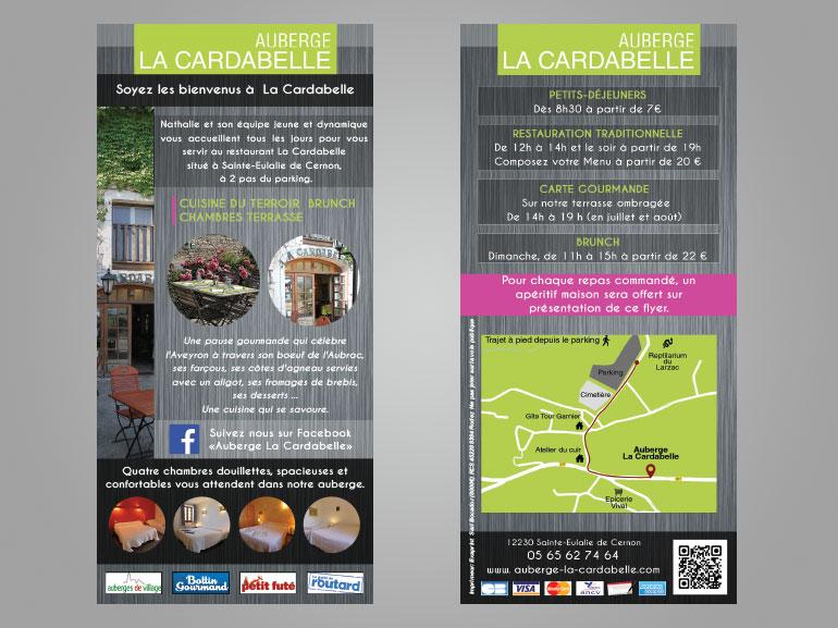 flyer restaurant la cardabelle larzac 2