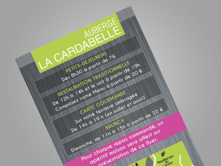 flyer restaurant la cardabelle larzac 5
