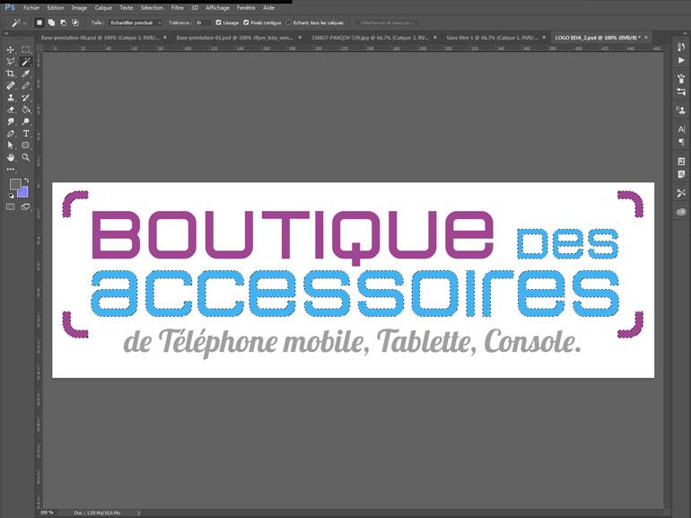 logo et charte boutique des accessoires ecommerce Montpellier 1