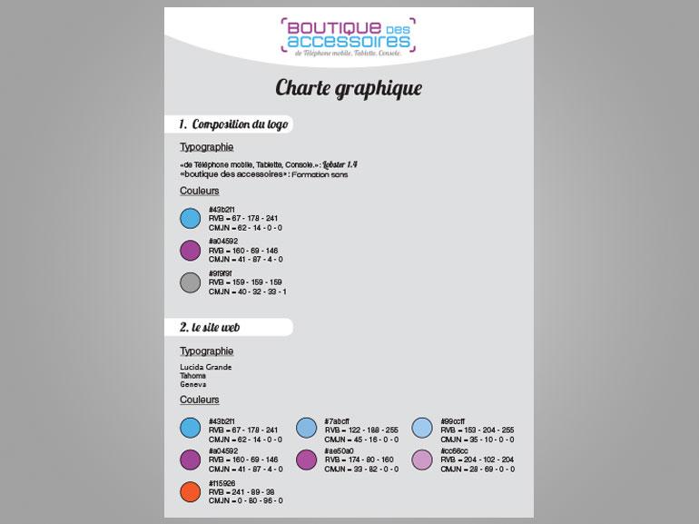 logo et charte boutique des accessoires ecommerce Montpellier 2