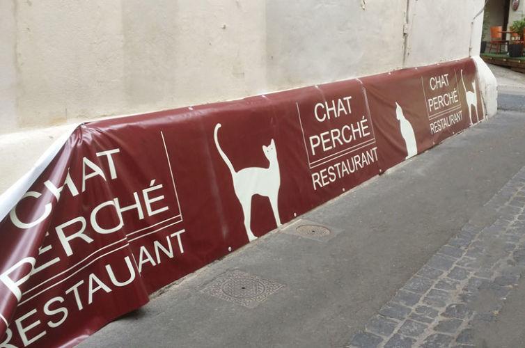 Bâche terrasse Le Chat Perché