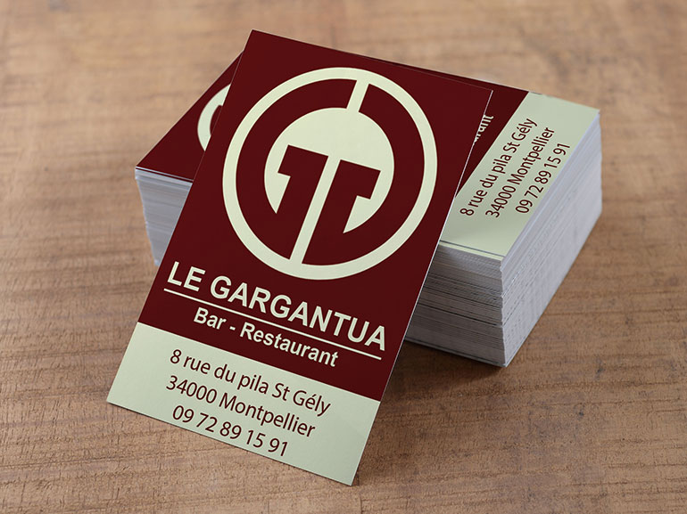 cartes de visite restaurant gargantua montpellier 1