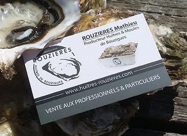 Carte de visite Huîtres Rouzières