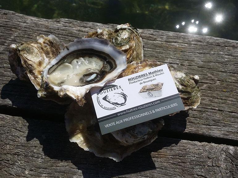 cartes de visite huîtres Rouzières bouzigues 1