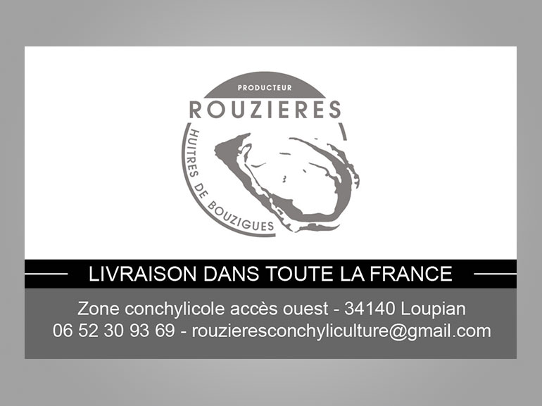 cartes de visite huîtres Rouzières bouzigues 3