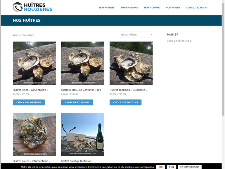 boutique en ligne Huîtres Rouzières bouzigues 2