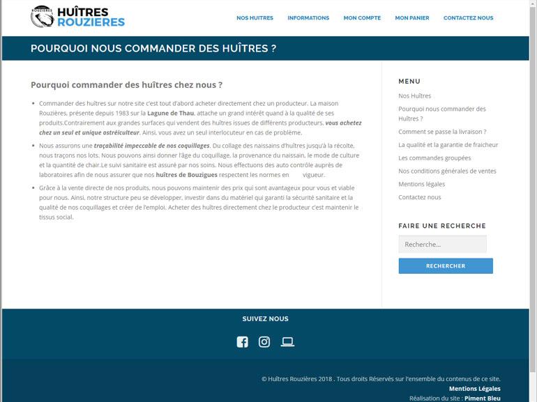 boutique en ligne Huîtres Rouzières bouzigues 6
